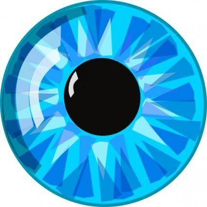 free vector Blue Eye clip art