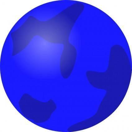 Globe Blue clip art