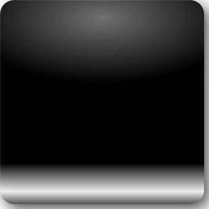 Mi Brami Square Black Crystal Button clip art
