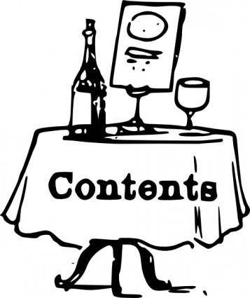 Tom Contents On A Table clip art