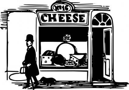 free vector Tom Cheese Shop clip art