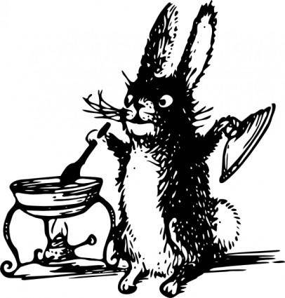 Tom A Cooking Rabbit clip art
