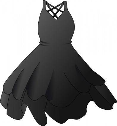 Secretlondon Black Dress clip art