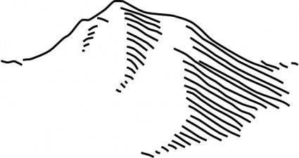 free vector Mountains clip art