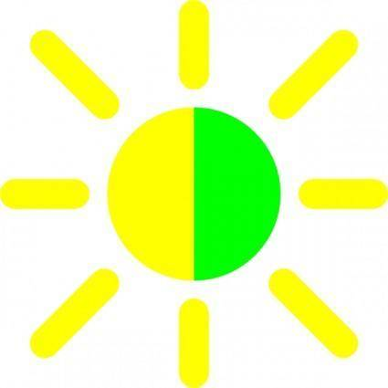 Brightness Contrast Icon clip art