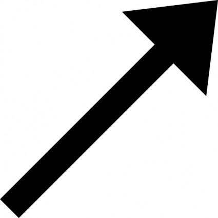 Up Right Black Arrow clip art