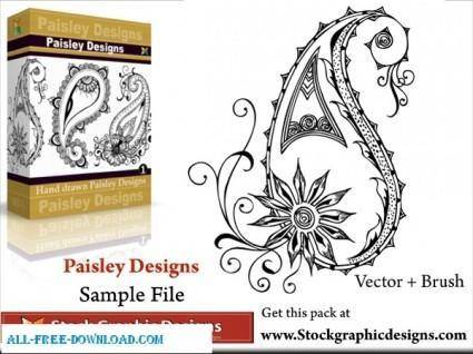 Vector Paisley Designs