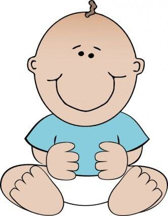 free vector Baby Boy Sitting clip art