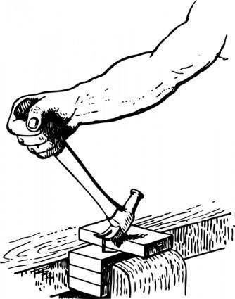 Johnny Automatic Withdrawing A Nail clip art