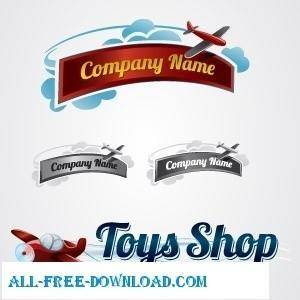 free vector Toy Plane Logo Collection