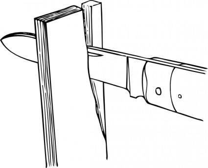 free vector Johnny Automatic Splitting Partially Across The Grain clip art