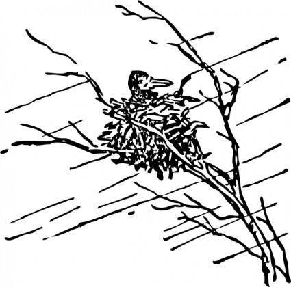 free vector Waiting Out The Storm clip art