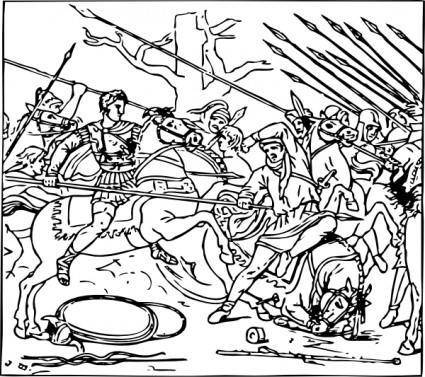 Alexander Defeats The Persians clip art