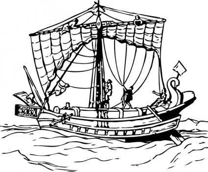 free vector Brailing The Sails clip art