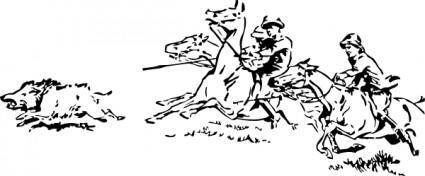 free vector Boar Hunt clip art