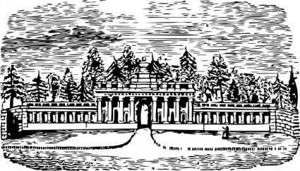 free vector Laurel Hill Cemetery clip art
