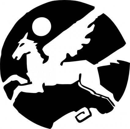 free vector Pegasus clip art
