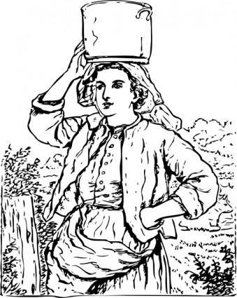 Milk Maid clip art