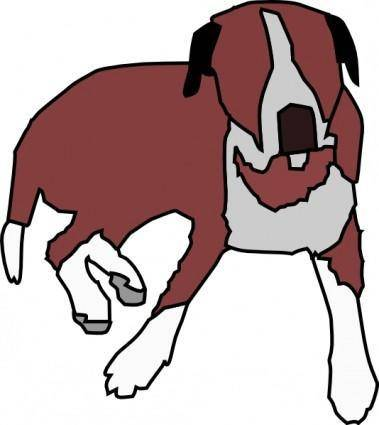 Dog Sitting clip art