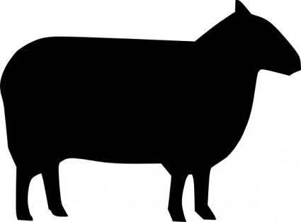Sheep Silhouette clip art
