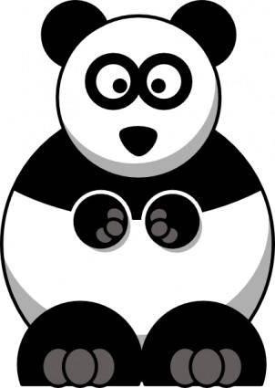 free vector Studiofibonacci Cartoon Panda clip art