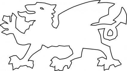 Welsh Dragon clip art