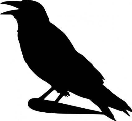 free vector Crow Silhouette clip art