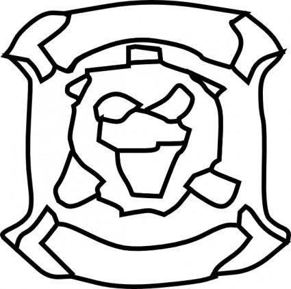 free vector Tiger FaceRough Draft clip art