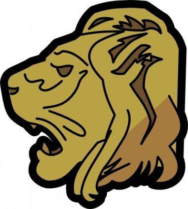 free vector Lion Head clip art
