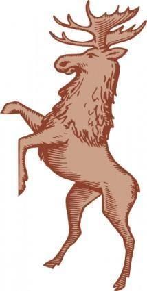 free vector Moose clip art