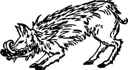 Warthog clip art