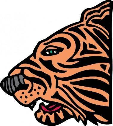 free vector Tiger Head clip art