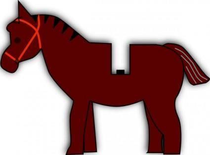 Horse Lego clip art