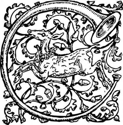 free vector Deer And Horn clip art