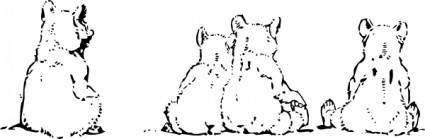 Bear Cubs clip art