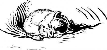 Cub Sleeps clip art