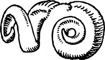 Ram Horns clip art