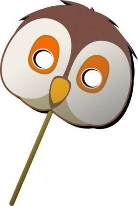Owl Mask clip art