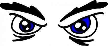 free vector Angry Eyes clip art