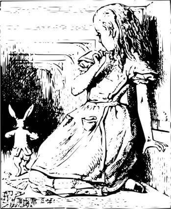 Alice And Bunny clip art