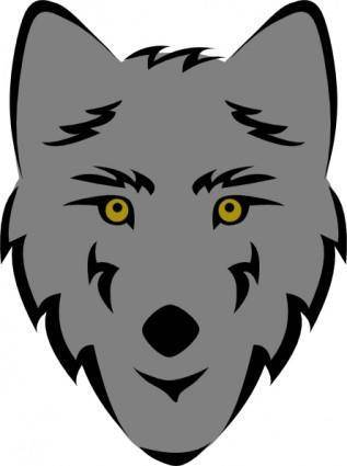 Simple Stylized Wolf Head clip art