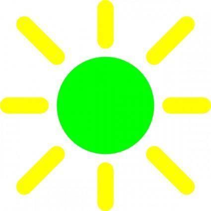 free vector Brightness Control Icon clip art