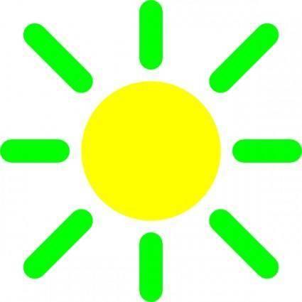 Brightness Control Icon clip art