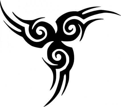 free vector Tribal Tattoo clip art
