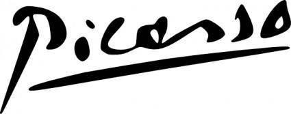 Picasso Signature clip art