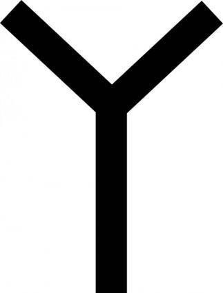 free vector Phoenician Waw clip art