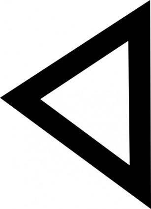 Phoenician Daleth clip art