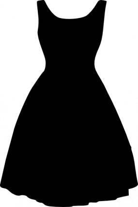 Retro Dress clip art