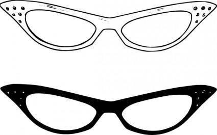 free vector Retro Glasses clip art