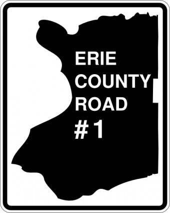 free vector Erie County Route Ny clip art